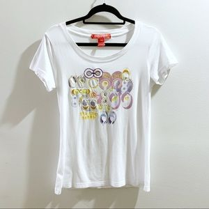 COACH Poppy White T-Shirt Size Small